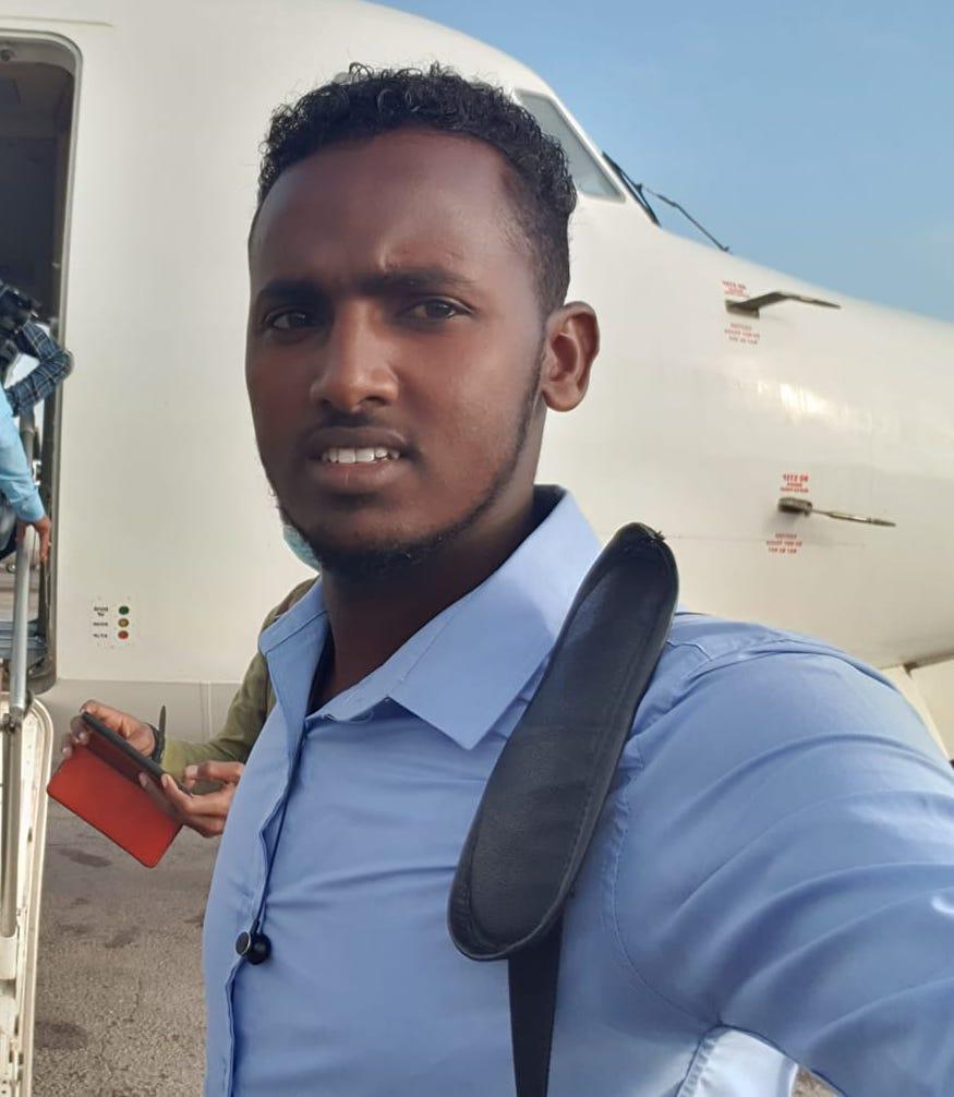 Goobjoog cameraman Abdirisak Abdullahi Fagas. (PHOTO/Courtesy/Abdirisak Abdullahi Fagas).