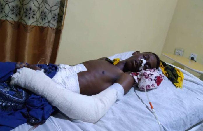 Goobjoog cameraman, Sharma'arke Abdinur Wehliye who was shot and injured by a police officer in Mogadishu on Saturday 20 March, 2021.