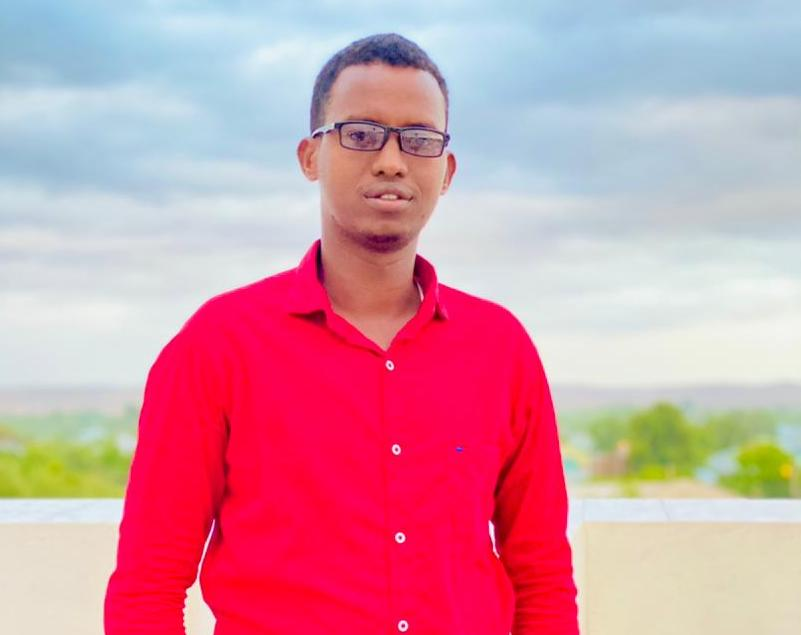 RTN television reporter, Hussein Abdi Jimale. (PHOTO SJS/Courtesy Hussein Abdi Jimale)